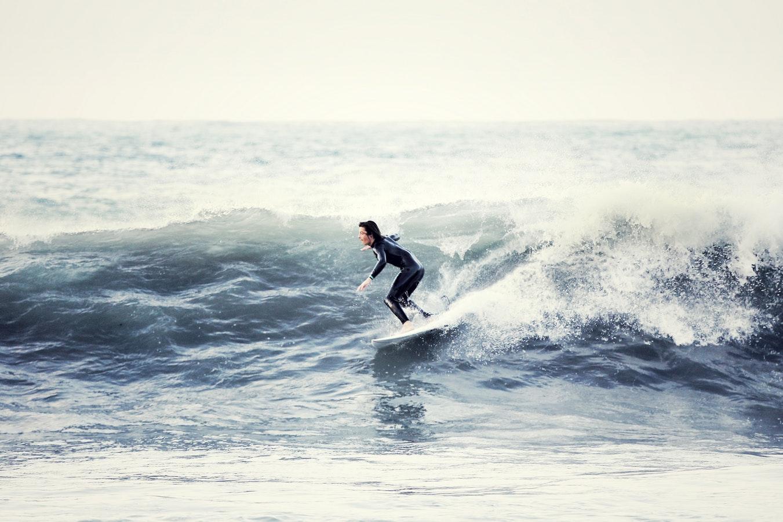 A Wave Surfer Wearing A Black Uniform